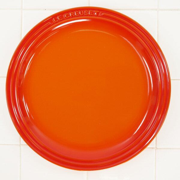 ル・クルーゼ ラウンド・プレート・LC 23cm オレンジ 910140-23-09 (日本正規販売品)