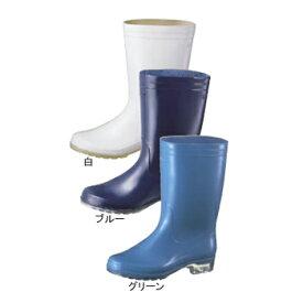 長靴 透明底 タフテックホワイト62 ブルー抗菌 23.5cm
