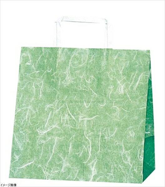 ヘイコー 手提 紙袋 平手紐 H25CB E 雲竜 ミドリ 26x16x26cm 50枚
