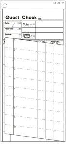 シンビ 横のり会計伝票 伝票ー17 英語 2枚複写式(500枚組) (PKID201)