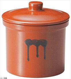 ヤマキイカイ 紅星窯 漬物容器 蓋付切立瓶 4号 A11 3689ao