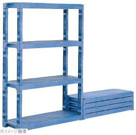 サンコー プラスチック棚−Lセット ブルー(棚板4枚・脚12本)