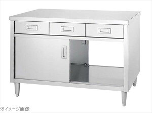 キャビネット作業台 EDW型(両面/引出・ステンレス戸)EDW−15090