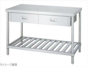 パイプ脚 作業台 スノコ棚 片面引出付 WDS−9075