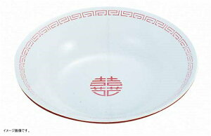 ENTEC 新型冷麺皿 白/赤 瑞祥 CA-19