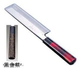 TKG 歌舞伎調和庖丁 忠舟 薄刃 18cm 黒金茶 ATD0301
