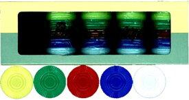 カジノチップ販売【POKER CHIP P-21】プラスチック製ポーカーチップ 5色組み100枚セット Φ25mm