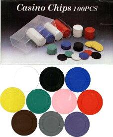 【カジノチップ販売】ポーカーチップ 無地単色 25枚セット Φ40mm A6260-A6269