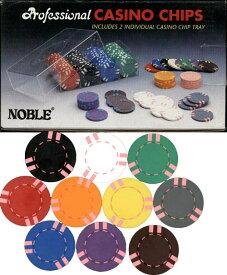 【カジノチップ販売】ポーカーチップ ピンクストライプ単色 100枚セット φ40mm