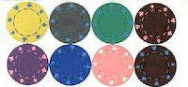 【カジノチップ販売】ポーカーチップトランプ柄 単色100枚セット Φ40mm