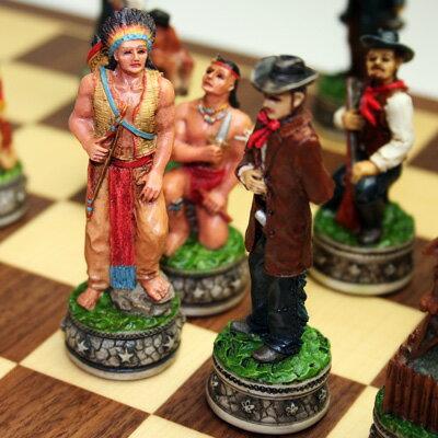 【西部開拓時代を再現】チェス駒 シェリフ&インディアン