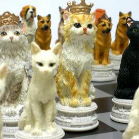 ※送料無料!※C1205【犬猫総勢32匹が揃い踏み】犬猫のチェスセット