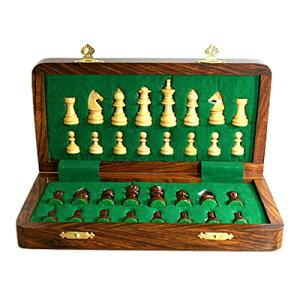 【アウトドアでのチェスプレイに最適!】ミニチェスセット 6012