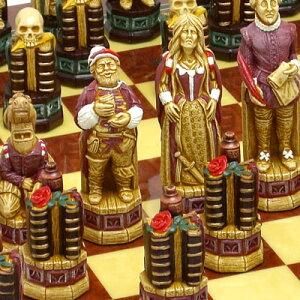 ※送料無料!※【チェスで再現されたシェイクスピア戯曲】チェス駒 シェイクスピア A182S