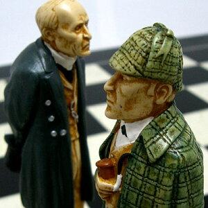 ※送料無料!※【盤上での推理対決】チェス駒 シャーロック・ホームズ A163S