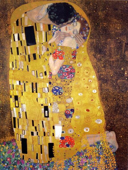 【美術品クラスの美しさ】もちろん額付き・送料無料です ジクレ版画 クリムト 「キス」