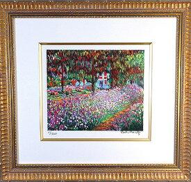 【パリの職人が再現するモネの色彩】 リトグラフ版画 モネ「ジヴェルニーのモネの庭」