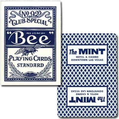 ビー・カジノホテルカード ポーカーサイズ-MINT- 青〜特別に未使用の状態で日本に輸入されたレアカジノトランプ!〜