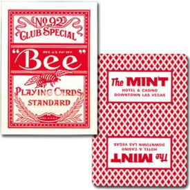 ビー・カジノホテルカード ポーカーサイズ-MINT- 赤〜特別に未使用の状態で日本に輸入されたレアカジノトランプ!〜