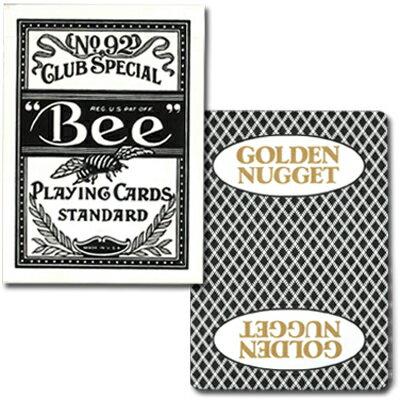 ビー・カジノホテルカード ポーカーサイズ-GOLDEN NUGGET- 黒〜特別に未使用の状態で日本に輸入されたレアカジノトランプ!〜