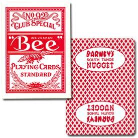 ビー・カジノホテルカード ポーカーサイズ-BARNEY'S NUGGET- 赤〜特別に未使用の状態で日本に輸入されたレアカジノトランプ!〜