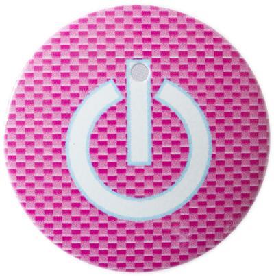 【送料無料】 車 アクセサリー トール THOR THOR スタートボタンカバー ・スイッチカーボン柄 ピンク・ 貼るだけかんたん取付 プッシュ スタート スイッチ カバー Push Start Switch Accessory for DAIHATSU 車用