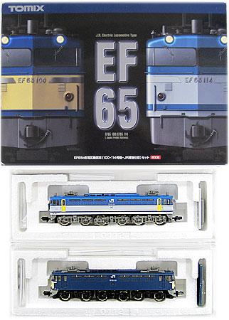 【中古】Nゲージ/TOMIX 92974 JR EF65 0形電気機関車(100・114号機 JR貨物仕様) 2両セット【A'】※外箱軽い傷み