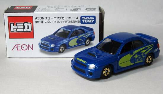 【中古】トミカ/AEONチューニングカーシリーズ第5弾スバル インプレッサWRX(STI仕様)【C】外箱開封済・傷み