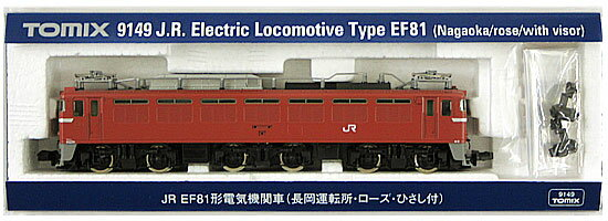 【中古】Nゲージ/TOMIX 9149 JR EF81形電気機関車 (長岡運転所・ローズ・ひさし付)【A】