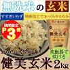 【玄米の無洗米】からだにやさしい健美玄米2kg