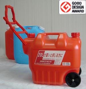 【日本製】 カラータンク20L(灯油ポリタンク・灯油缶)2000GT-W3-R(タンゲ化学工業)コロ付安全性能試験合格・適合品::02P03Dec33