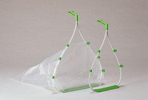 ゴミ袋をセットすればチリトリ完成♪ちりとり捨楽(大サイズ)市販の70リットル用ゴミ袋(目安)がセットできます。::Dec48