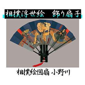 【送料無料】扇子 相撲浮世絵 飾り扇子 相撲絵図扇 小野川男性用 女性用 土産用::02P03Dec41