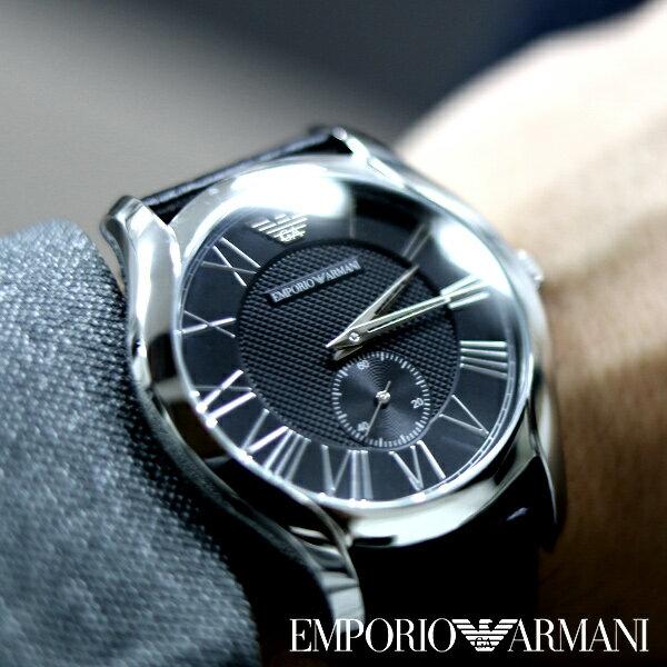 エンポリオアルマーニ 腕時計 EMPORIO ARMANI 時計 アルマーニ メンズ ブラック AR1703 [ 人気 ブランド 革ベルト 高級 ]