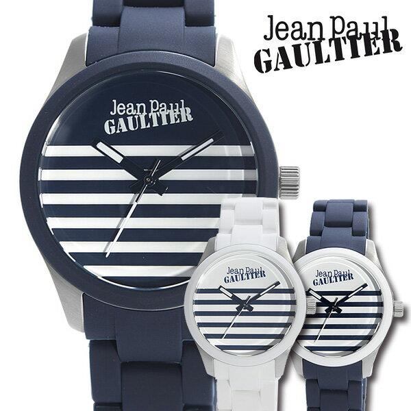 ジャン ポール ゴルチェ 腕時計 Jean Paul GAULTIER 時計 ジャンポールゴルチェ 時計 JeanPaulGAULTIER 腕時計 メンズ レディース JPG-8501119 ラバー ベルト シルバー ネイビー 縞 模様 ゴルチエ ゴルティエ モード ロック 個性的 ユニーク ブランド