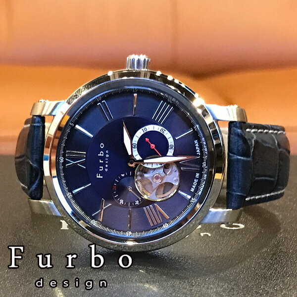 【5年保証対象】フルボデザイン 腕時計 Furbodesign 時計 フルボ デザイン 時計 Furbo design 腕時計 メンズ ブルー F5026BLSET 革 ベルト 正規品 機械式 自動巻 メカニカル おしゃれ オートマチック セット イタリア 送料無料