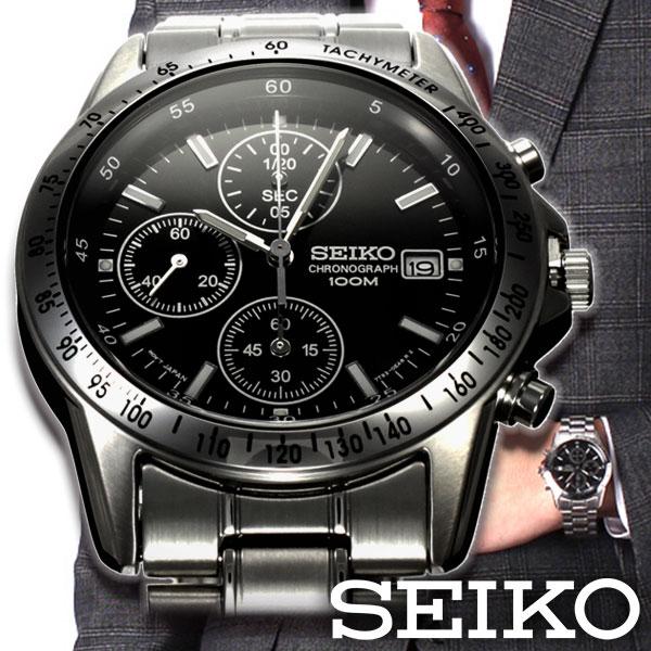 【メンズ腕時計の王道】セイコー 腕時計 SEIKO 時計 腕時計 メンズ クロノグラフ 逆輸入 海外モデル [ 腕時計メンズ メンズ腕時計 就活 サラリーマン 社会人 ラウンド ブラック シルバー ホワイト クロノ クロノグラフ ビジネス スーツ リクルート 転職 面接 男性 20代 ]