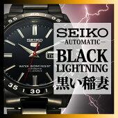 セイコー腕時計[SEIKO時計](SEIKO腕時計セイコー時計)セイコー5(SEIKO5)セイコーファイブメンズ/ブラック/SNKE03KC