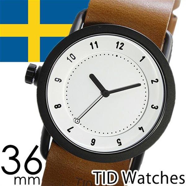 【正規品】 ティッドウォッチズ 腕時計 TID Watches 時計 レディース ホワイト TID01-WH36-T [ 革 ベルト おしゃれ インスタ モデル 北欧 ペア ブラウン ブラック ]