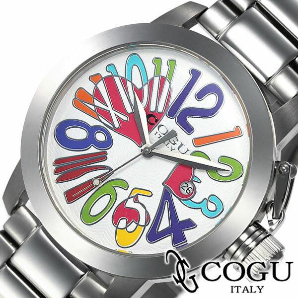 コグ 腕時計 cogu 時計 マルチカラー メンズ レディース ホワイト マルチカラー CHS-WCL [ 生活 防水 人気 ブランド ]
