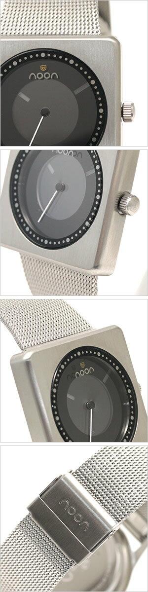 ヌーンコペンハーゲン腕時計[nooncopenhagen時計](nooncopenhagen腕時計ヌーンコペンハーゲン時計)コズミックレイズ(COSMICRays)ユニセックス時計/ブラック(ディスクカラー:ホワイト×グレー)/NOON-18-031[スタイリッシュ]