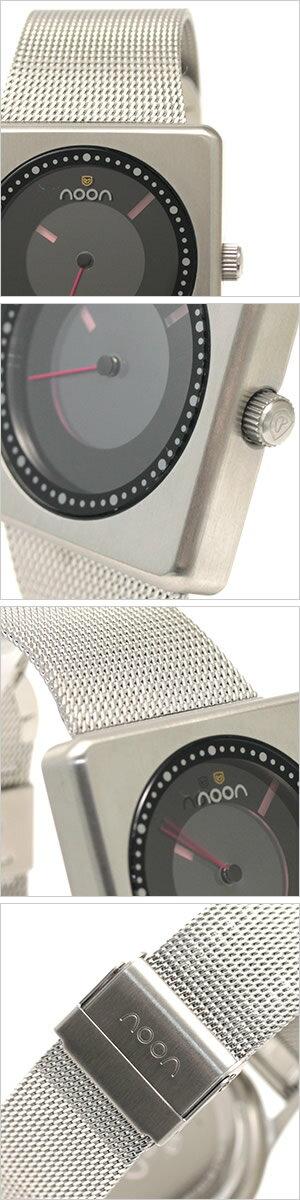 ヌーンコペンハーゲン腕時計[nooncopenhagen時計](nooncopenhagen腕時計ヌーンコペンハーゲン時計)コズミックレイズ(COSMICRays)ユニセックス時計/ブラック(ディスクカラー:ライトピンク×ピンク)/NOON-18-033[スタイリッシュ]