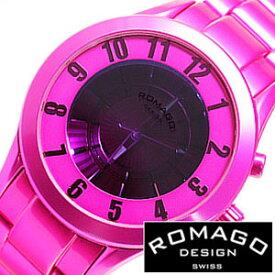 (14611円引き)[66%OFF]ロマゴデザイン 腕時計 ROMAGO DESIGN 時計 ロマゴ スーパーレジェーラ [ Super leggera ] メンズ ピンク RM028-0287AL-PK 新作