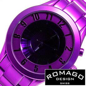 (14300円引き)[65%OFF]ロマゴデザイン 腕時計 ROMAGO DESIGN 時計 ロマゴ スーパーレジェーラ [ Super leggera ] メンズ パープル RM028-0287AL-PU