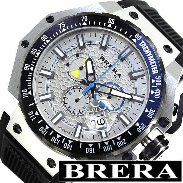 ブレラオロロジ 腕時計 BRERA OROLOGI 時計 ブレラ グランツーリスモ GRAN TURISMO メンズ ホワイト BRGTC5401 [ ビックフェイス ブランド 人気 イタリア 希少品 ]