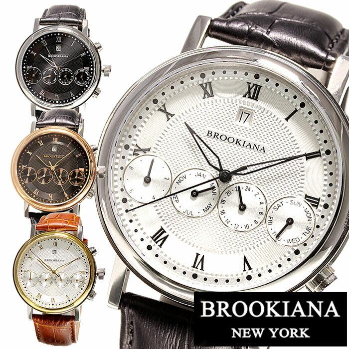 自動巻き 腕時計 ブルッキアーナ腕時計 BROOKIANA時計 BROOKIANA 腕時計 ブルッキアーナ 時計 メンズ ブラック ホワイト BA1664 正規品 レア 日本未発売 限定モデル 新品 高級腕時計 ブラウン ゴールド ピンクゴールド ブランド msw