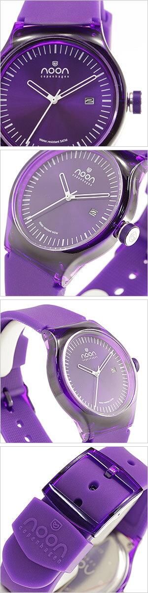 ヌーンコペンハーゲン腕時計[nooncopenhagen時計](nooncopenhagen腕時計ヌーンコペンハーゲン時計)メンズ腕時計/パープルホワイト/NOON-82-001S5[アナログ]