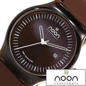 ヌーンコペンハーゲン腕時計[nooncopenhagen時計](nooncopenhagen腕時計ヌーンコペンハーゲン時計)メンズ腕時計/ブラウンホワイト/NOON-82-003S6[アナログ]