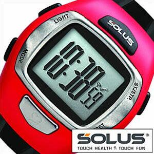 【5年保証対象】ソーラス腕時計 SOLUS時計 SOLUS 腕時計 ソーラス 時計 レジャー930 Leisure 930 メンズ レディース シルバー レッド ブラック 01-930-007 正規品 スポーツ ダイエット エクササイズ プッシュボタン式 シニア 心拍時計 ハートレートモニター