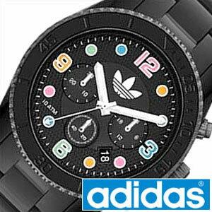 adidas 時計 アディダス 腕時計 adidas originals 腕時計 アディダス オリジナルス 時計 adidasoriginals 腕時計 アディダス時計 adidas時計 ブリスベン BRISBANE メンズ レディース ブラック ADH2946 クロノグラフ トレフォイルロゴ キッズ[ バーゲン ]